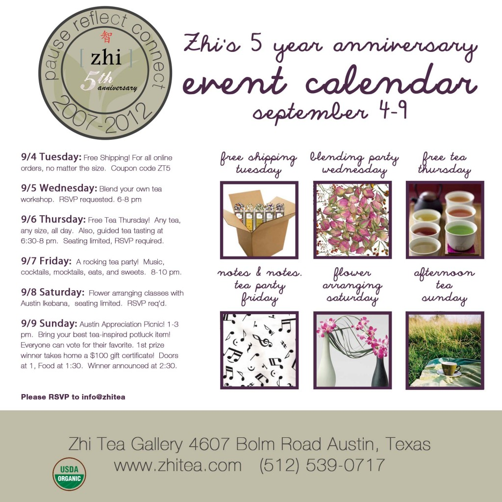 Zhi Tea Events