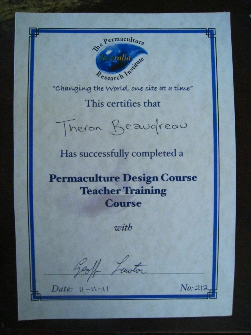 Permaculture Design Course Teacher Training Certificate