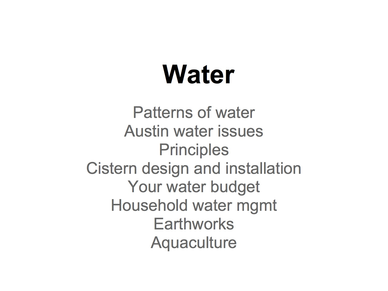 Dani's Water Powerpoint